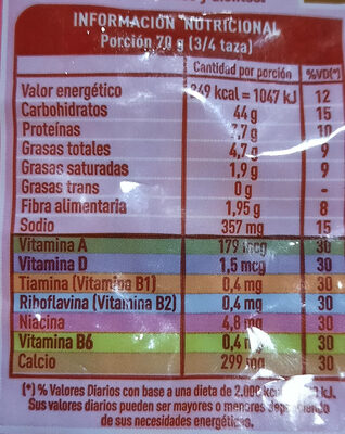 jamón y queso lucchettinis - Informations nutritionnelles