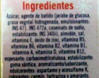 Helado sabor frutilla - Ingrédients - es