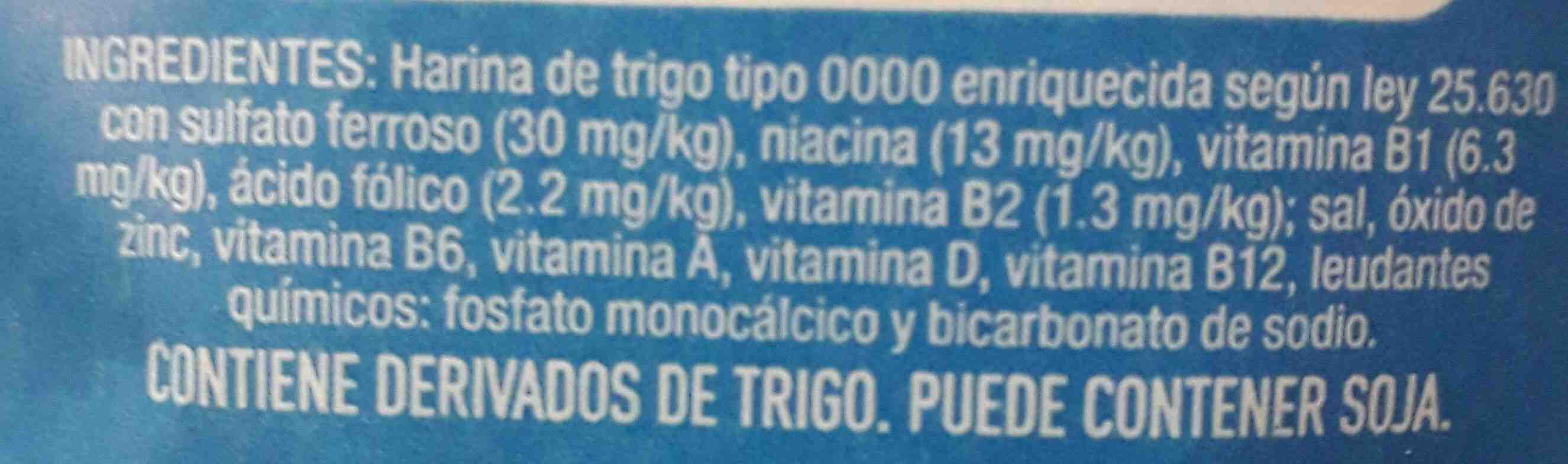 harina - Ingredientes