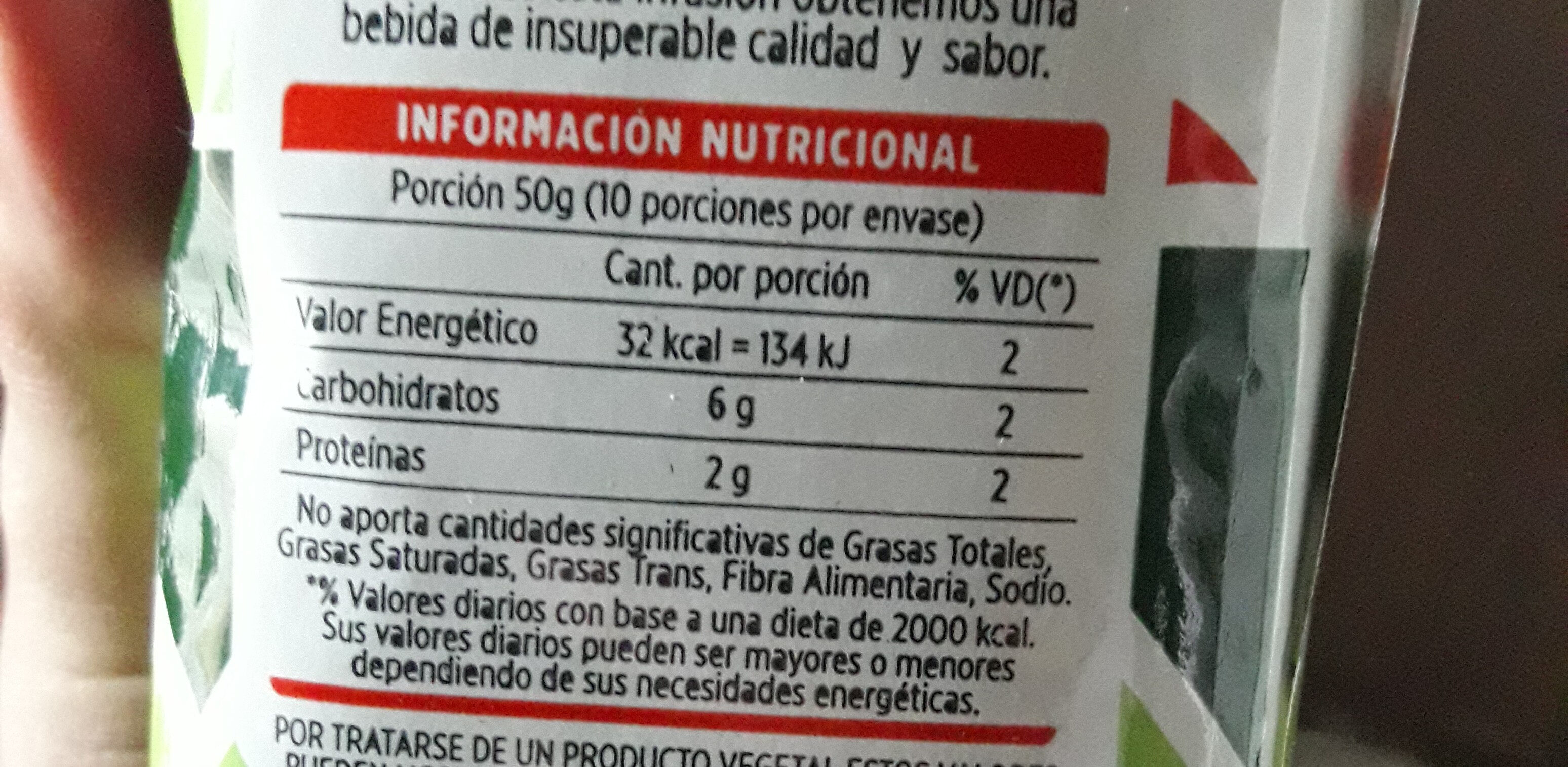 Cumbrecita - Nutrition facts - es