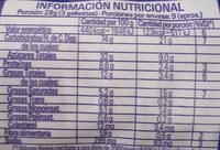 Girotondo Vainilla - Nutrition facts - es