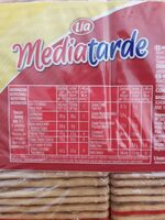 Mediatarde - Informations nutritionnelles - es