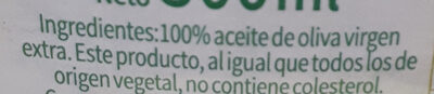 Aceite de oliva extra virgen - Ingrédients - es