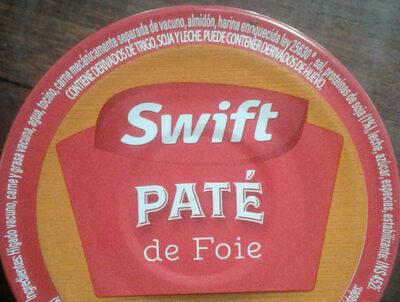 paté de foie - Ingrediënten - es
