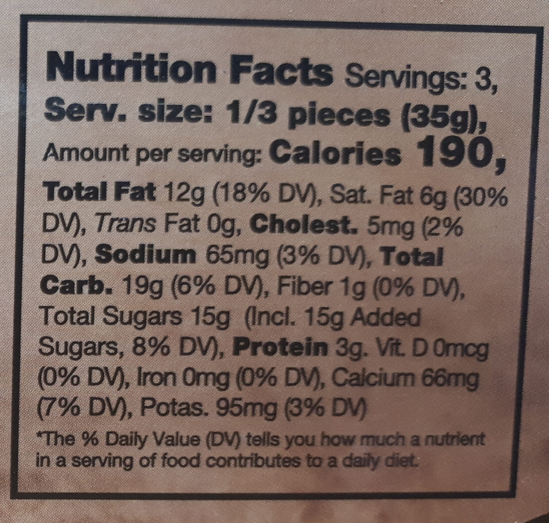 Delicias de la chocolatería - Nutrition facts - en