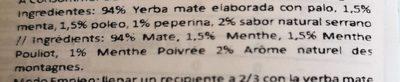 Yerba Mate Union Suave Hierbas Serranas X 500 GR. - Ingredients - fr