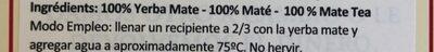 La Merced Barbacua Yerba Mate - Ingredients