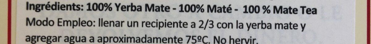 La Merced Barbacua Yerba Mate - Ingredients - fr