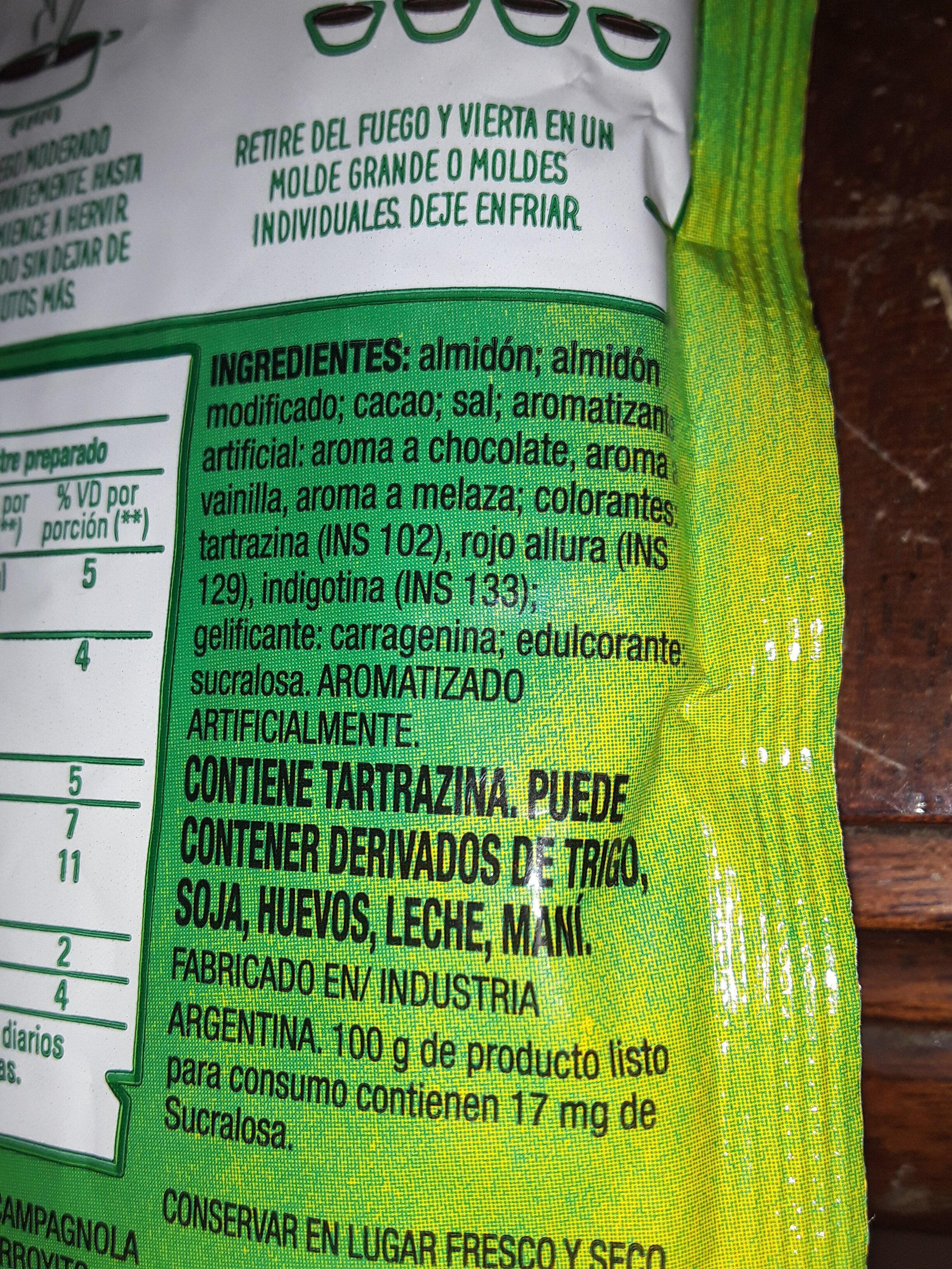 - Ingrediënten - es