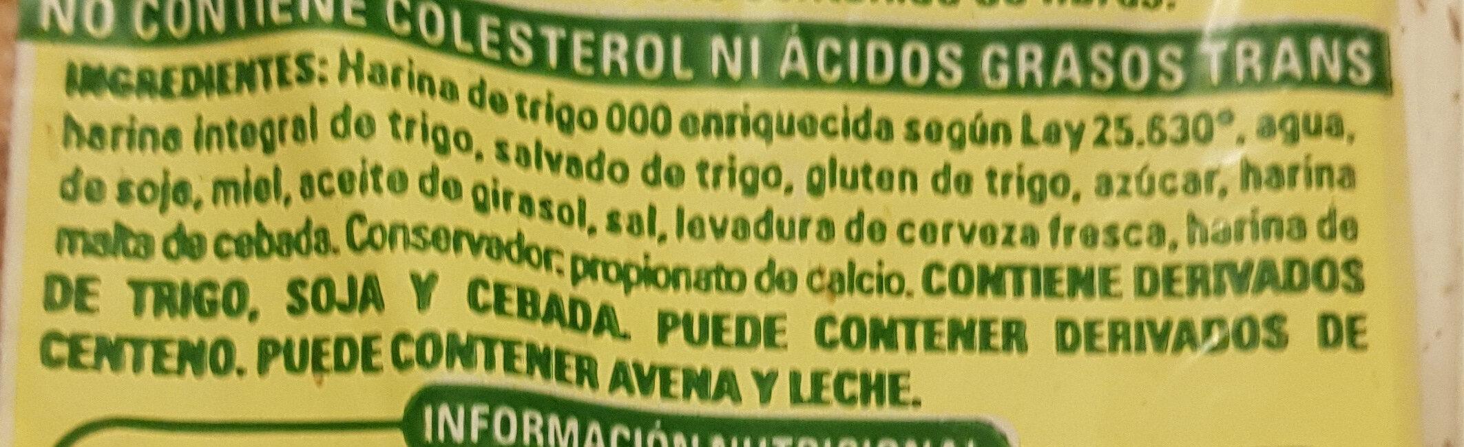 val Maira - Ingrédients - es
