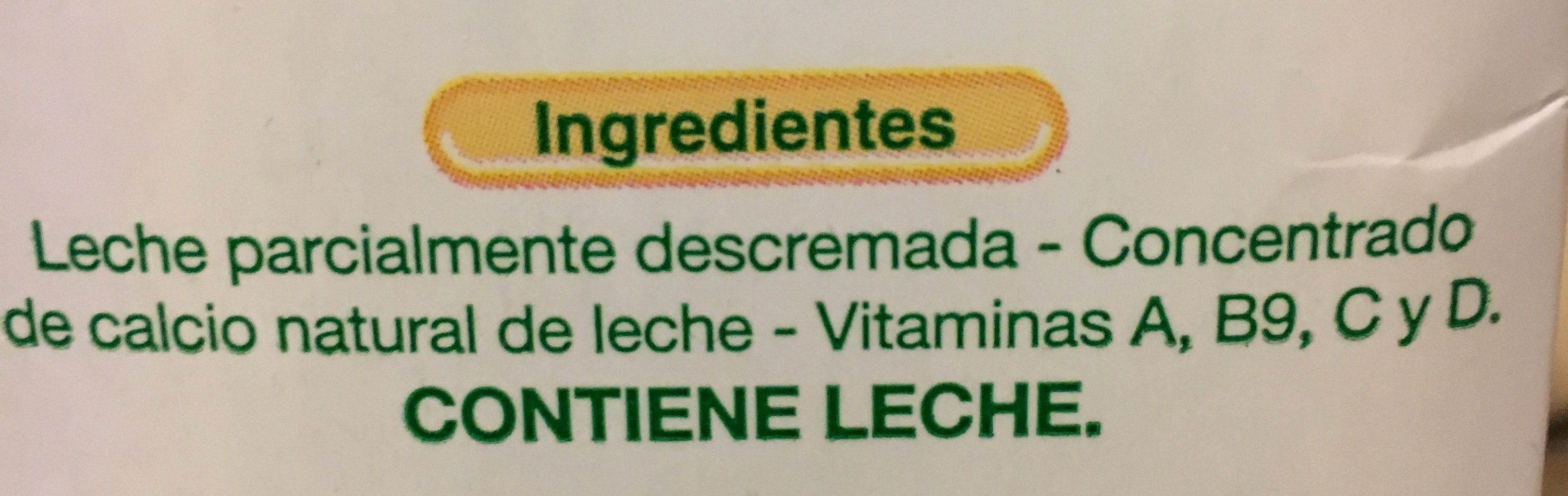 Leche Descremada 1LT La Serenisima Tetra - Ingrédients - fr