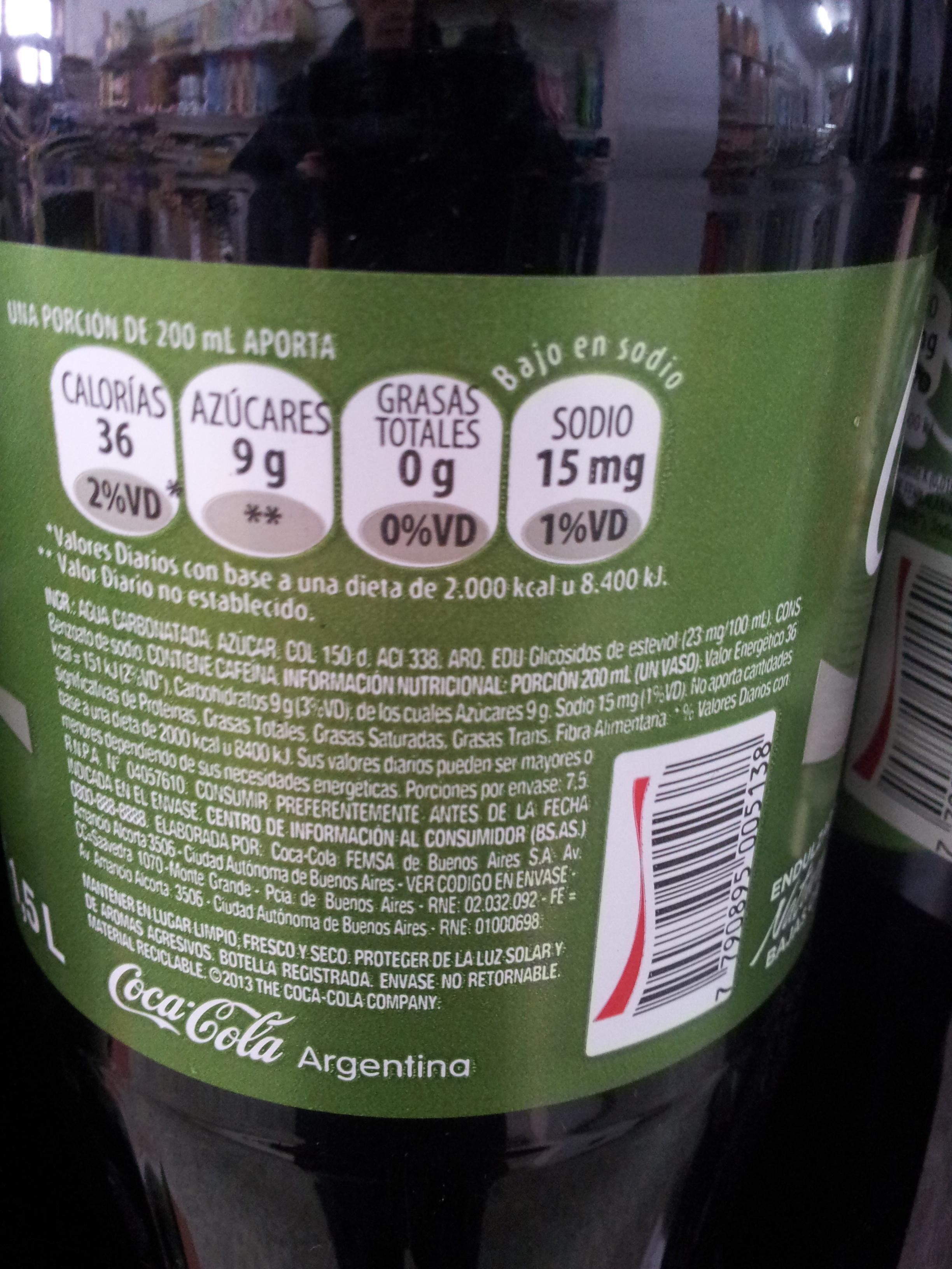 Coca Cola Life 1 5 L