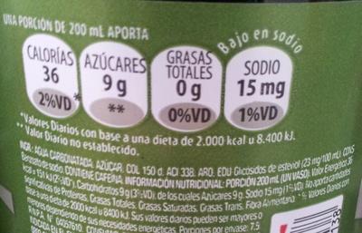 Coca Cola Life Nutrition Nutrition Facts Coca Cola