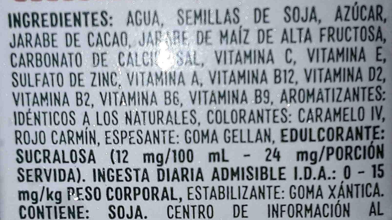 ades - Ingredients - es