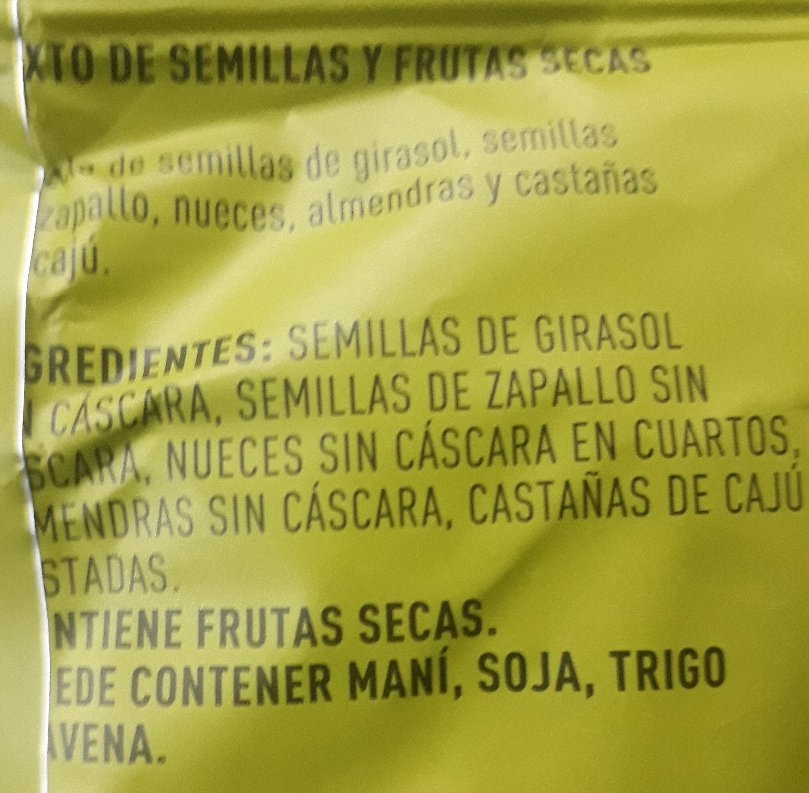 mix semillado - Ingredients