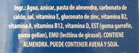 Silk ALMENDRA - Ingredientes - es