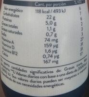 yogurisimo go frutilla - Informations nutritionnelles - es