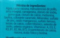RAZA - ALIMENTO COMPLETO PARA GATOS - Ingredients - es