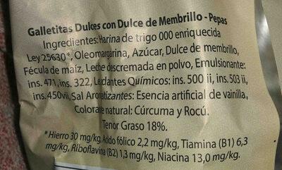 pepas marily - Ingredientes - es