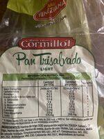 pan de salvado - Informação nutricional - es