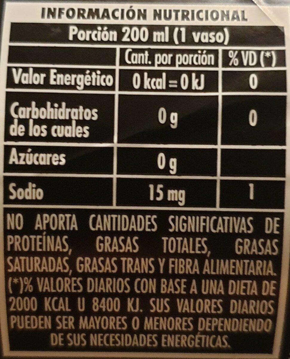 Pepsi sabor intenso, sin azúcar - Informations nutritionnelles - fr