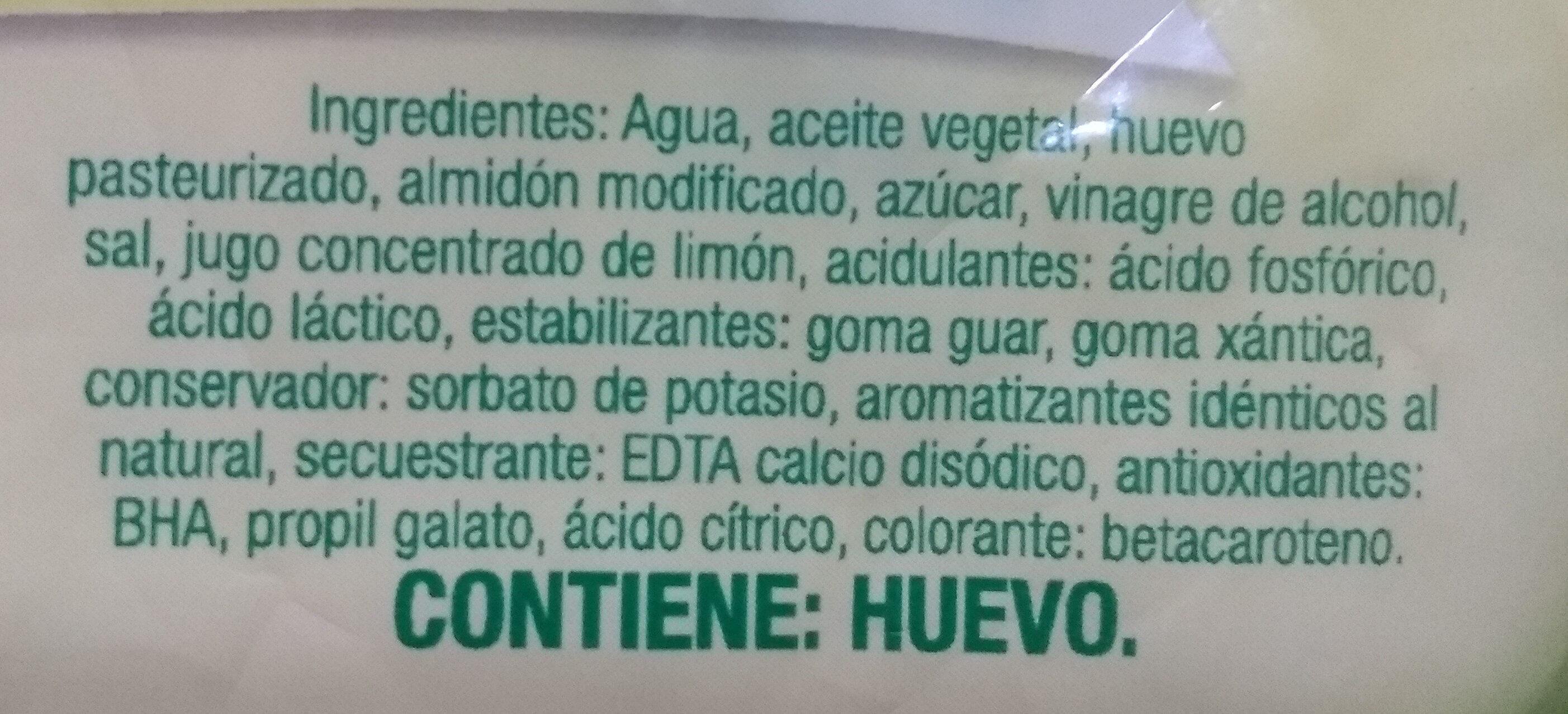 Mayonesa - Ingrédients