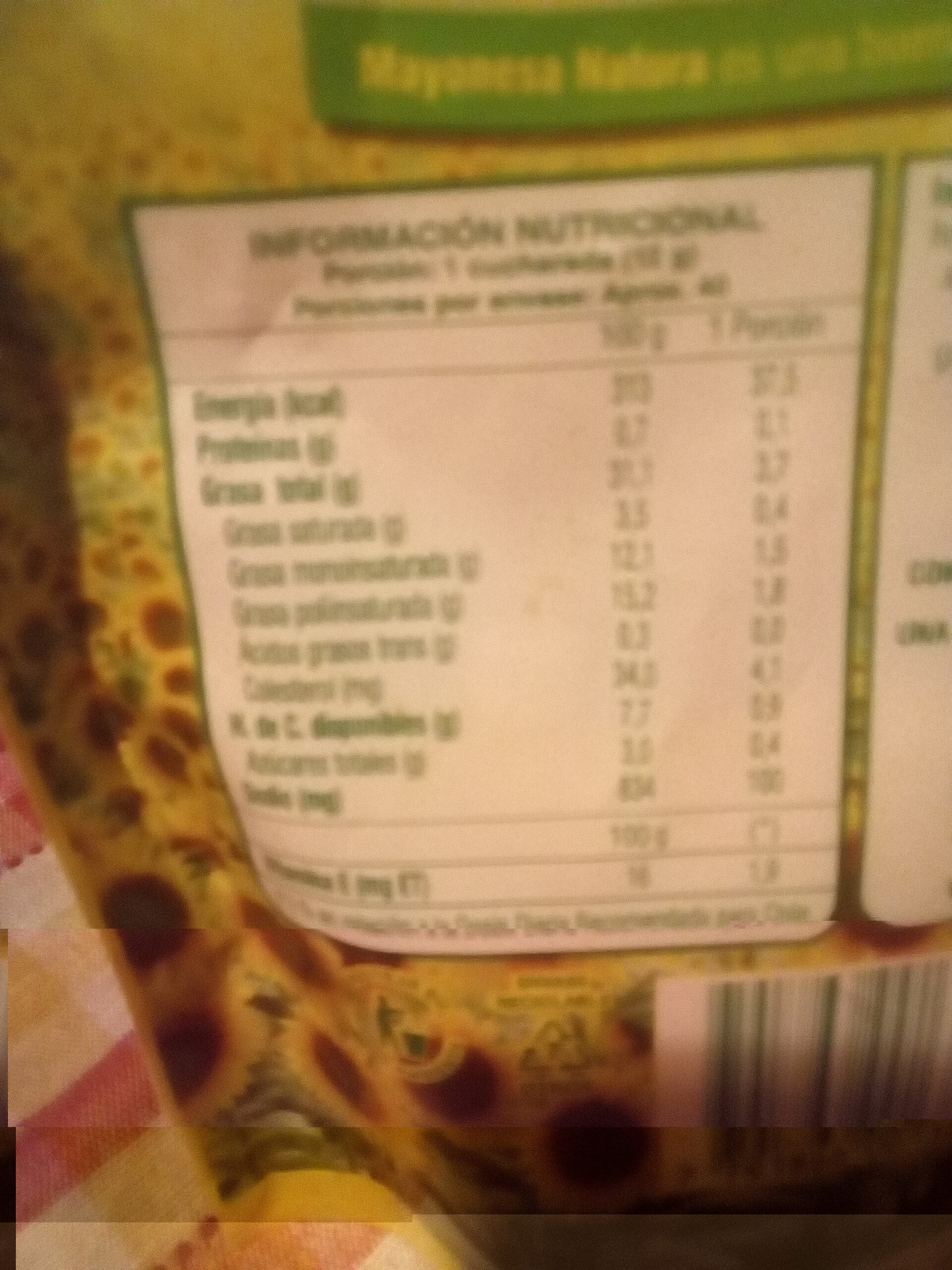 Mayonesa - Nutrition facts