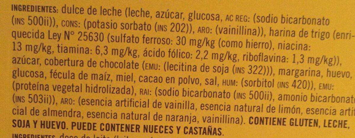 Havanna Luxury Alfajores Mixed Chocolate / Snow X - Ingredientes - es
