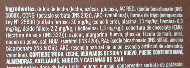 Alfajor de chocolate - Ingredientes - es