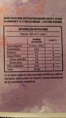 jugo y pulpa - Nutrition facts - es