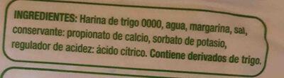 tapa para pascualina jumbo - Ingredients