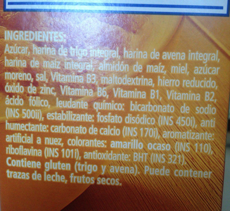 Honey nut oats - Ingrédients - fr