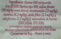 Cañuelas - Ingredients - en