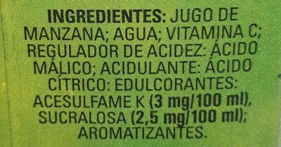 BC Manzana - Ingredients - en
