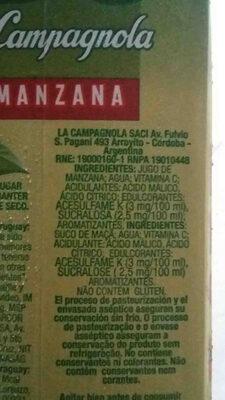BC la campagnola - Ingrédients - en