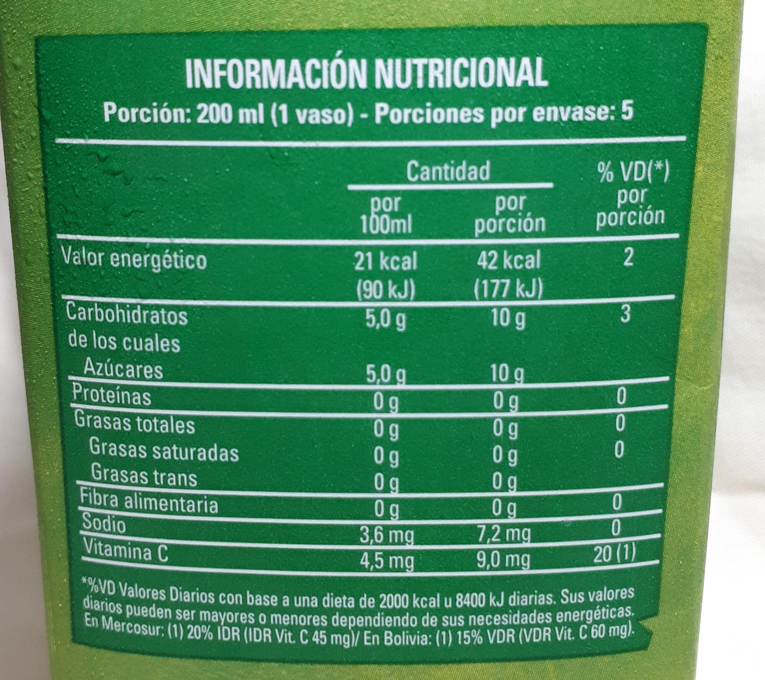 BC Manzana - Nutrition facts - en