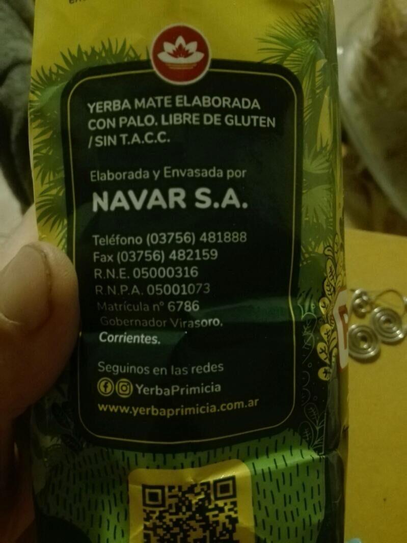 Yerba mate - Ingredients