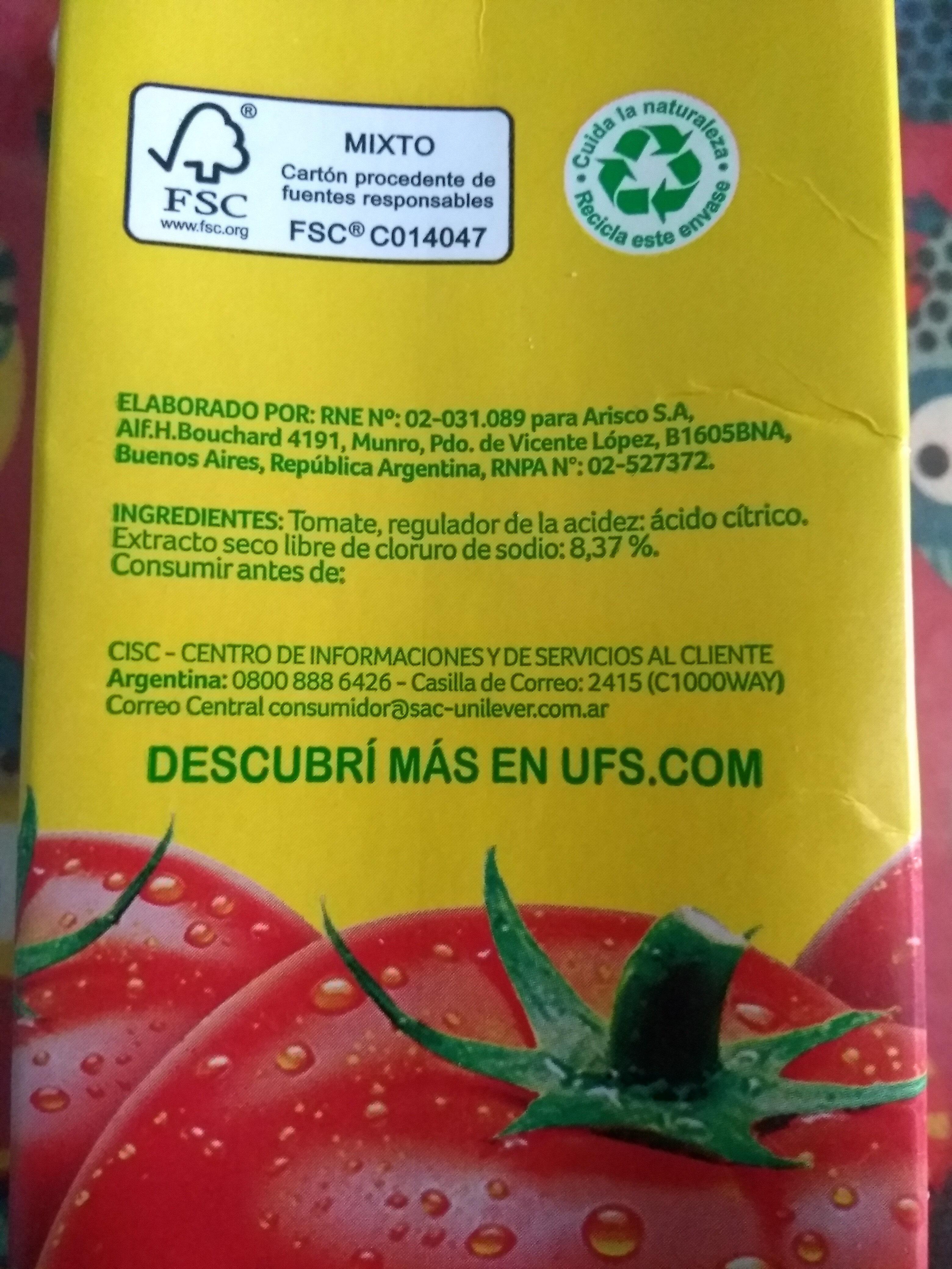 Puré de tomates - Ingredients - es