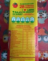 Puré de tomates - Nutrition facts - es