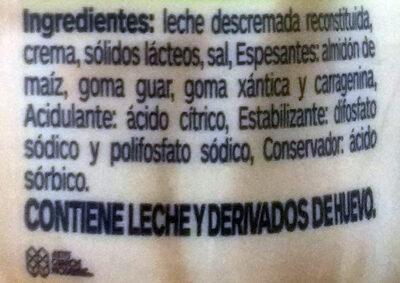 Crematto light untable - Ingrédients - es