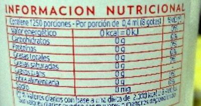 Clasico - Informations nutritionnelles - es