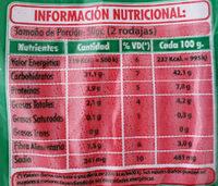 Pan de Salvado - Informations nutritionnelles - es