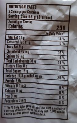 Budín Vainilla - Informations nutritionnelles - es