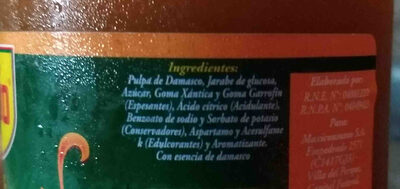 Mermelada de Damasco (Marolio) - Inhaltsstoffe