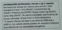 Lemon Verbena - Valori nutrizionali - es