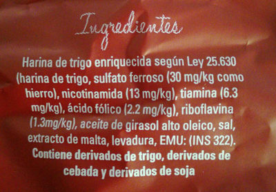 crackers clasicas la anonima - Ingredients