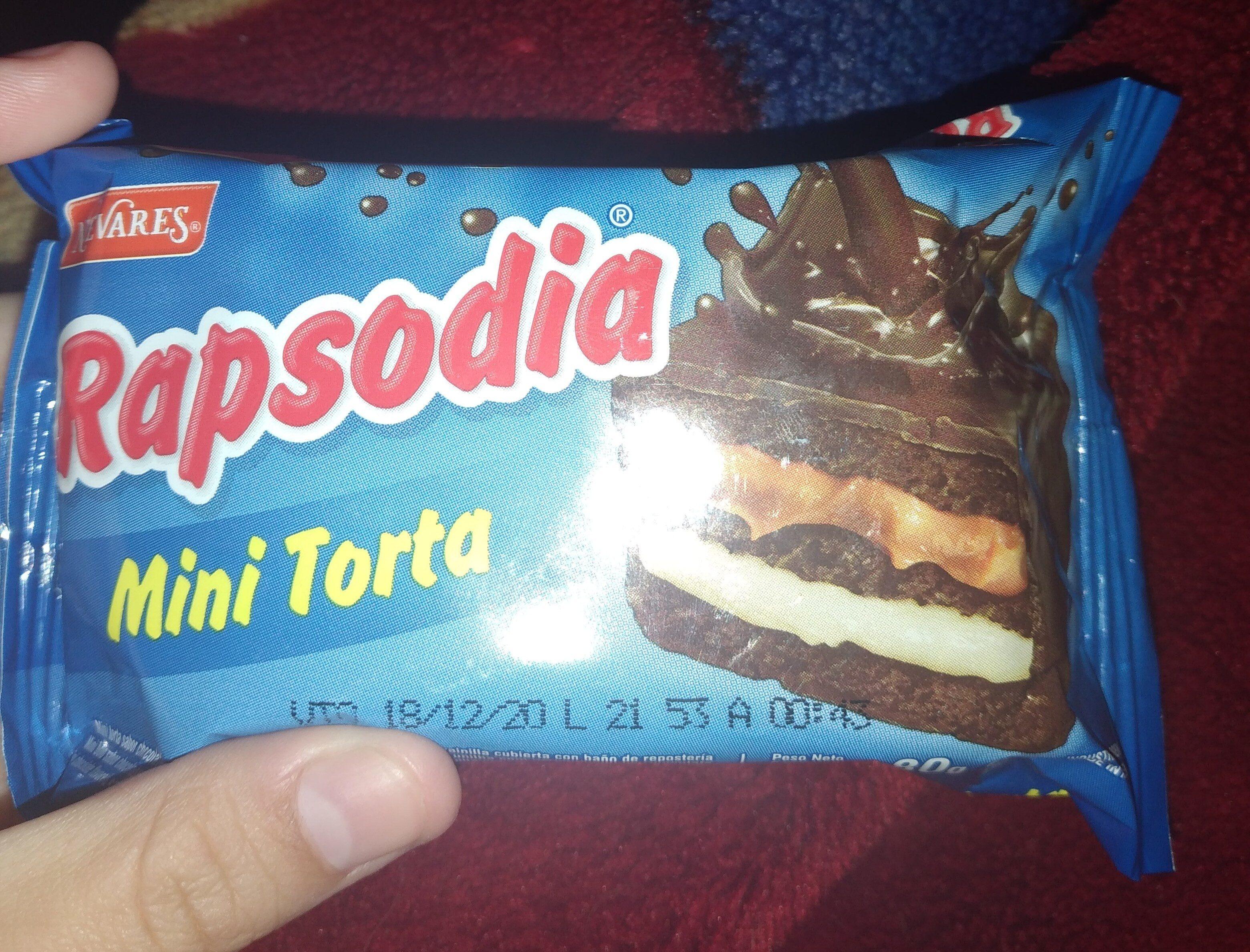 Minitorta Rapsodia - Ingrédients - es