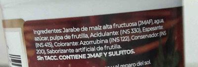 salsa dulce frutilla jamer - Ingredients