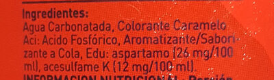 Manaos cola light - Ingrédients