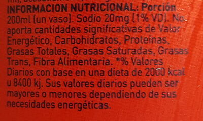 Manaos cola light - Informations nutritionnelles